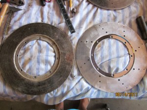 Custom Rotor Cross Drilling Before and After