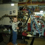 Matthew helping with tear down